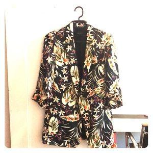 Zara Basic Floral Blazer
